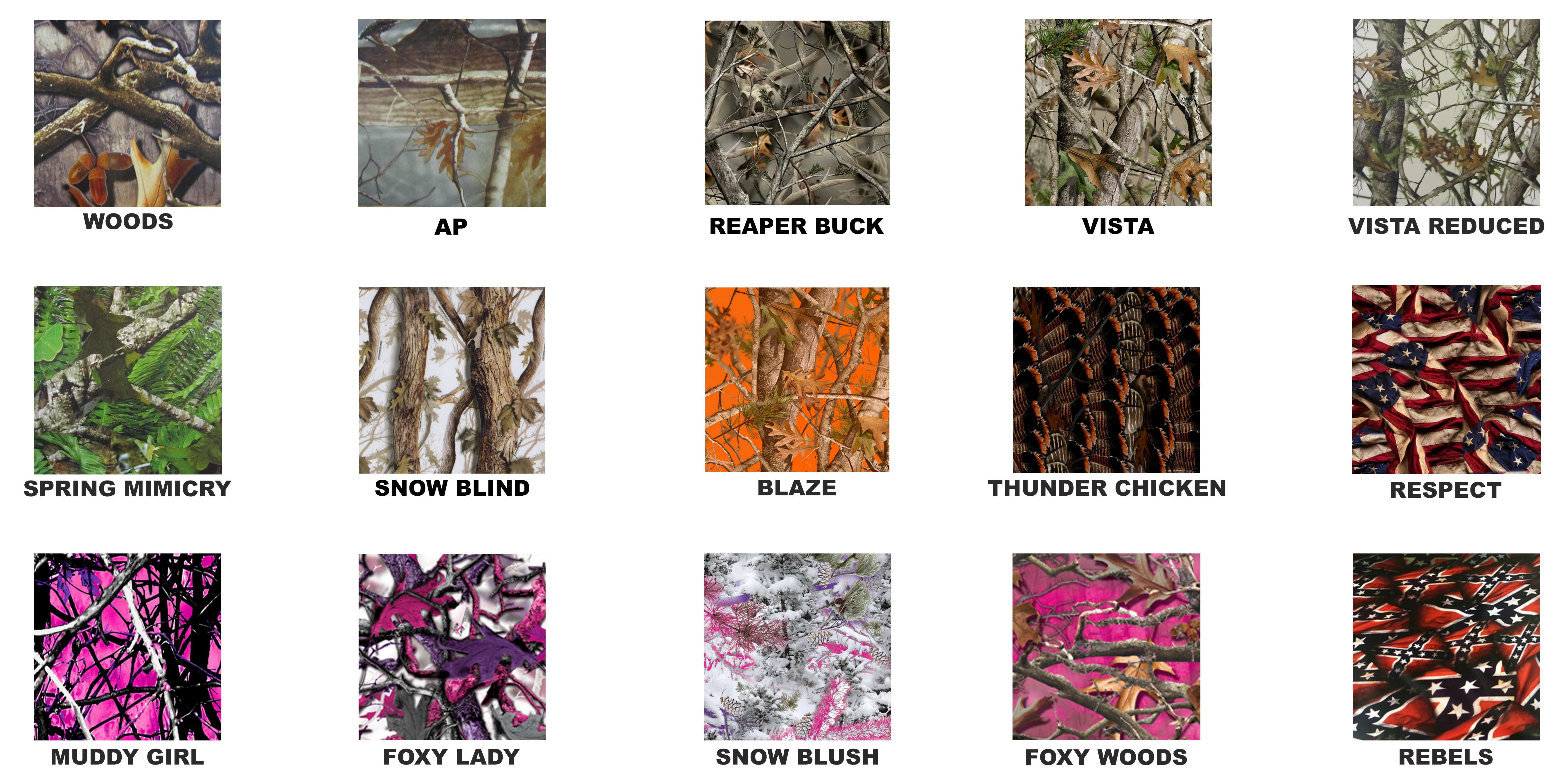 Taxidermy Plaque Camo Options