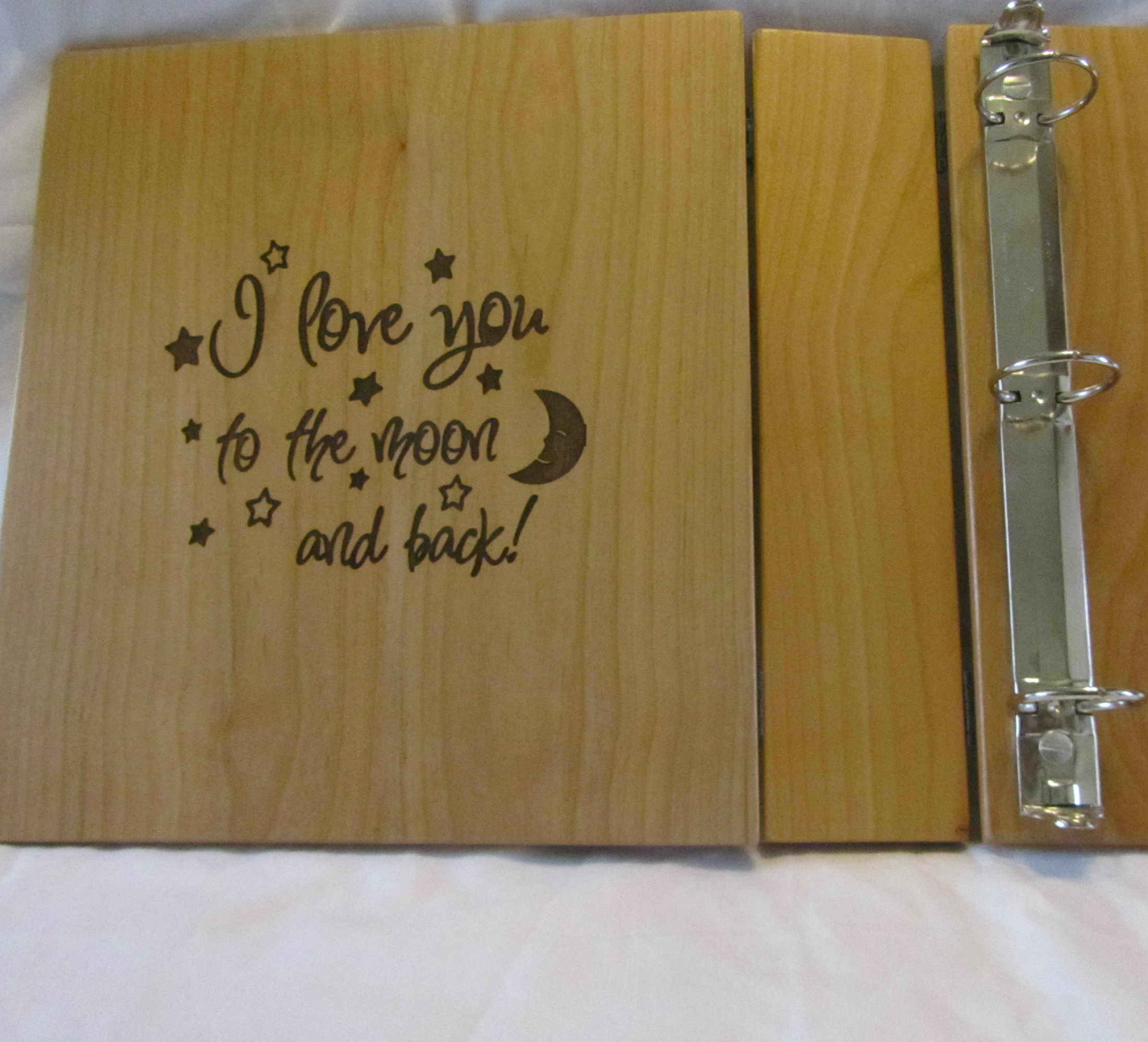 Personalized Photo Album With Engraved Inside Cover
